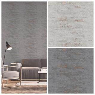 Vlies Tapete Uni Beton Stein Optik dunkel grau bronze metallic ON4201 industrial - Vorschau 3