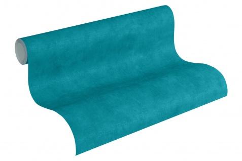 Vliestapete Uni Textil Optik türkis einfarbig Boho Love 36457-5