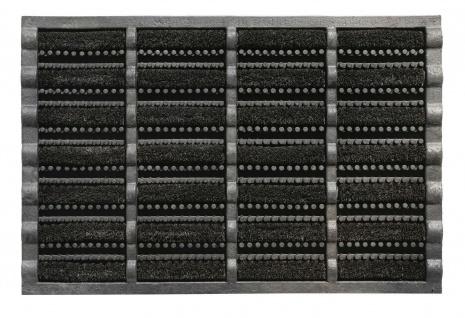 Outdoor Gummi Kokosrollen Fußmatte Mudbuster 40x60 cm Schmutzfangmatte schwarz