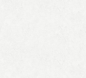 Vliestapete Uni Struktur grau weiß Großrolle 10, 05 x 1, 06 m 36389-1 Melange