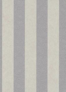 Vliestapete Carat breite Streifen beige silber grau glänzend 10077-02 / 1007702