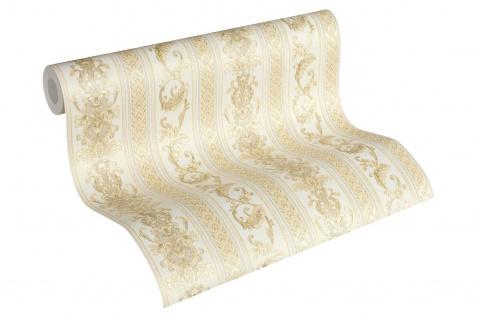 Luxus Vliestapete Ranken Streifen Optik beige gold glanz 33547-3 Hermitage
