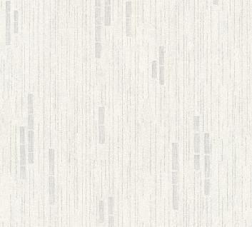 Vliestapete Uni Streifen Struktur weiß grau metallic glitzer effekt 31850-2