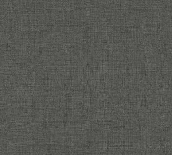 Vliestapete Uni Struktur Textil Leinen Optik schwarz grau 36776-1 / 367761