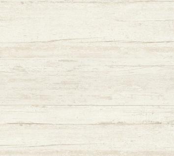 Vlies Tapete Querbalken Holz Optik Design creme California 36394-4