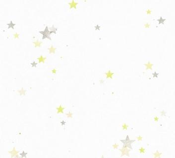 Esprit Kids 5 Tapete weiß Sterne grau grün beige 35696-1 / 356961