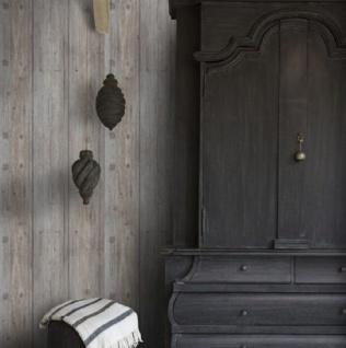 Vliestapete Antik Holz Muster rustikal grau beige / braun grau royal wood shabby - Vorschau 2