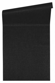 Versace 4 Luxus Uni Struktur Vlies Tapete schwarz metallic 962339
