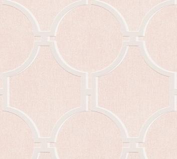 Vlies Tapete Vintage Grafik Kreise rosa creme grau 36149-2 Elegance 5th Avenue
