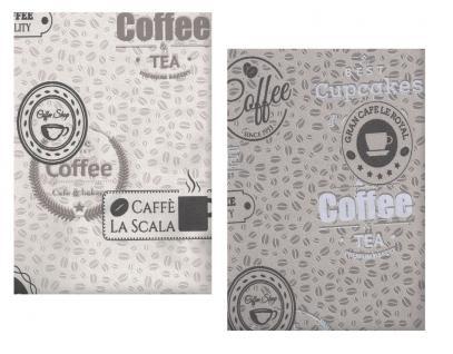 Vliestapete Kaffeebohnen Coffee Cupcakes kieselgrau creme braun Küchentapete