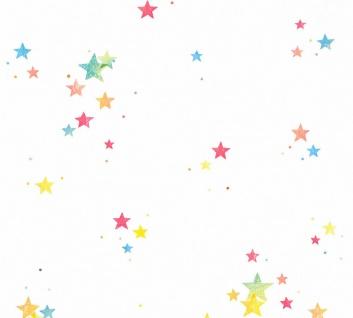 Esprit Kids 5 Tapete weiß bunte Sterne gelb blau rot 35696-2 / 356962