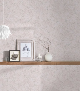 Vlies Tapete Beton Stein Optik rosé weiß silber metallic Concrete 3777-39