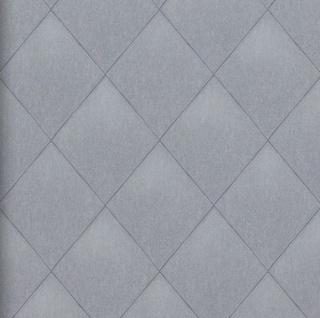 Vlies Tapete Rauten Muster blau grau Karo Caro Kariert textil jeans optik 17625