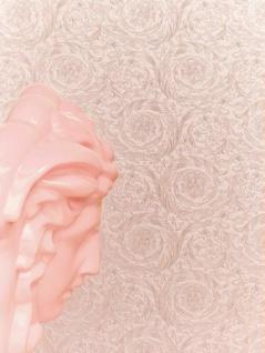 Versace 4 Vlies Tapete Federn Ranken Kreis Ornament rose kupfer metallic 366922