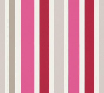 Esprit Kids 5 Streifen Vliestapete grau pink rot weiß 30288-2 - Vorschau 1