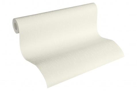 Luxus Vliestapete Uni creme weiß silber 34276-2 Hermitage einfarbig
