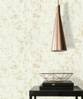 Vliestapete Stein Beton Optik beige gold metallic Betonmauer 230775