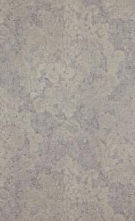 Vliestapete Neobarock Ornament silber grau creme Stein Beton Optik shabby 218793