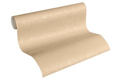 Vliestapete Uni Struktur glanz beige braun gold 33544-3 Hermitage einfarbig