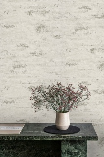 Vlies Tapete Beton Optik creme weiß gold modern look Stein Wand GT1203