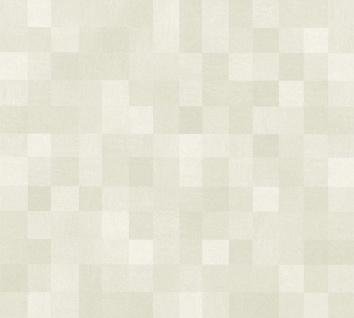 Vlies Tapete Kacheln Pixel Mosaik Würfel Muster creme beige California 36390-3