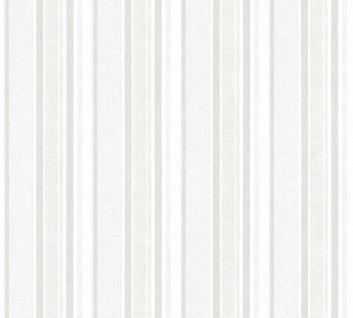 Vliestapete Kinder Streifen Muster creme weiß silber 35849-2 boy girl