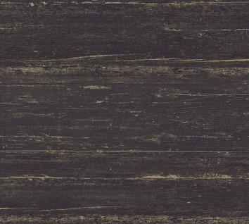 Vlies Tapete Querbalken Holz Optik Design schwarz braun California 36394-1