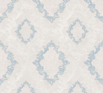 Tapeten grau blau g nstig online kaufen bei yatego for Tapete ornament blau