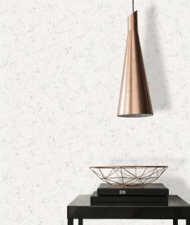 Vlies Tapete Beton Stein Optik weiß silber metallic Concrete 3777-15