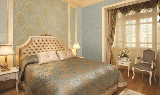 Vlies Tapete Klassisches Barock Ornament beige grün metallic JC3009-4