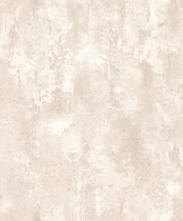 Vliestapete Stein Optik Patina creme beige 1011 patiniert spachtel metallic