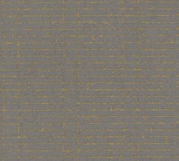 Grafische Strukturtapete Vlies gestreift schwarz braun metallic 36395-2
