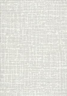 Elegante Uni Stickoptik Stoff Struktur Vliestapete creme weiß metallic DE120101