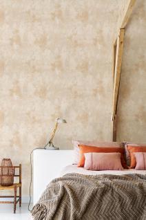 Vliestapete Patina Steinwand Spachtel Optik beige modern Loft
