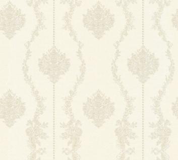 Vlies Tapete Barock Ornament Streifen creme grau metallic 34493-3 Chateau 5