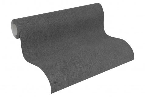 Vliestapete Uni Textil Optik Struktur anthrazit schwarz Elegance - 5th Avenue - Vorschau 2