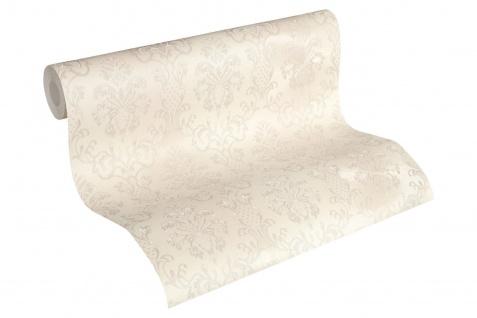 Luxus Vliestapete Barock Ornament creme weiß glanz 33545-3 metallic Hermitage