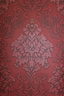 Vliestapete Barock Ornament bordeaux rot glitzer 36898-3