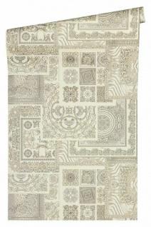 Versace 4 Vlies Tapete Patchwork Ornament Kacheln grau weiß metallic 370485