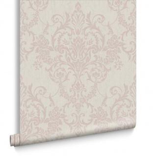 Viktorianische Barock Vlies Tapete Damask beige rose gold metallic 103030