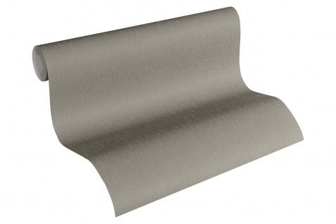 Luxus Vliestapete Uni taupe grau kiesel grau 34276-8 Hermitage einfarbig