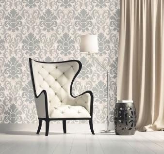 Luxus Vliestapete Barock Ornament creme grau Glitzer marmoriert 13343-30