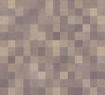 Vlies Tapete Kacheln Pixel Mosaik Würfel Muster braun California 36390-2