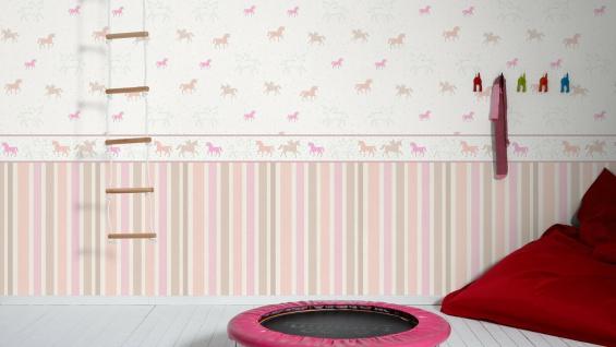 Esprit Kids 5 Streifen Vliestapete pastell rosa altrosa weiß 30288-1 - Vorschau 3