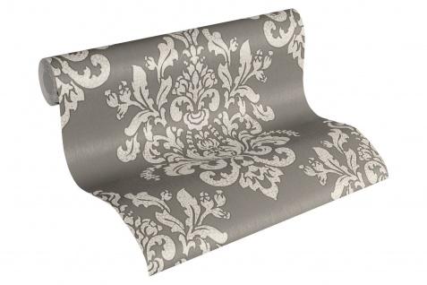 Luxus Vliestapete Barock Ornament taupe grau glanz metallic 34143-2 Hermitage - Vorschau 1