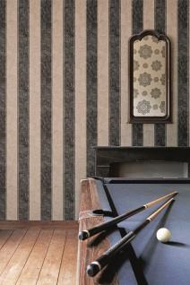 Vlies Tapete Streifen Muster braun schwarz bn wallcoverings klassisch