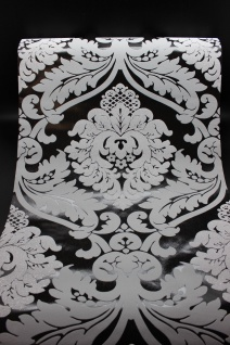 Vlies Tapete Barock Muster Ornament schwarz grau glitzer effekt klassisch