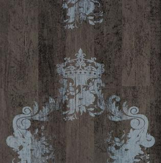 Vlies Tapete 46522 Antik Holz Ornament braun grau Royal Wood Design shabby chick