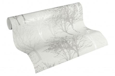 Vlies Tapete Baum Bäume Natur creme grau glanz 36147-2 Elegance - 5th Avenue