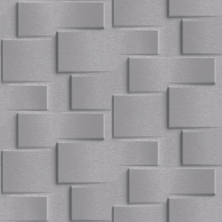 Vliestapete moderne 3D Steinwand dunkel grau Stein Optik Grafisch Brick EP3304